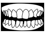 Icono de apiñamiento dental